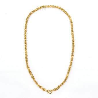 MONO Jewelry สร้อยคอทองคำลายมีนา งานทองไมครอน ชุบเศษทองคำแท้ รุ่น น้ำหนัก ๒ บาท