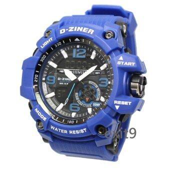 D-ZINER นาฬิกาข้อมือผู้ชาย สายซิลิโคนรุ่นDZ-8143 (สีน้ำเงิน)