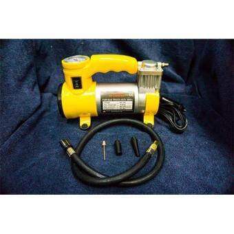 d1 sport Air compressor ปั๊มลมรถยนต์ Mini 12 V (สีเหลือง)