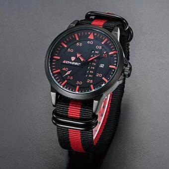 นาฬิกาข้อมือ LONGBO สายผ้า NATO Nylon รุ่นLB3018G ระบบ QUARTZ เครื่องญี่ปุ่น กันน้ำ30เมตร บอกวันและวันที่ ของแท้รับประกัน 1 ปี