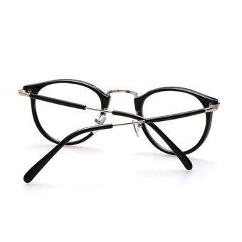 ใหม่สไตล์ผู้ชายและผู้หญิงแฟชั่นวินเทจล้างเลนส์แว่นตากรอบแว่นเลนส์เรโทร H9 004 ที่ 01 (จ้าสีดำ)