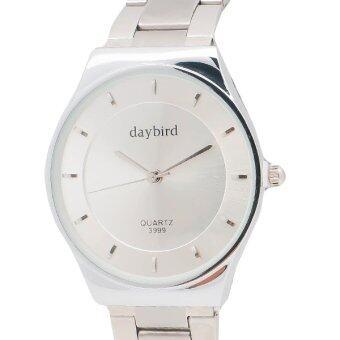 Daybird นาฬิกาข้อมือผู้หญิง สายแสตนเลส รุ่น DB-3999S-SV-WH สีเงิน