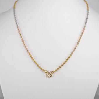 Elise's สร้อยคอสามกษัตริย์ ชุบไมครอนทอง เงิน นาก ลายดีสโก้ ความยาวรวม 50 cm