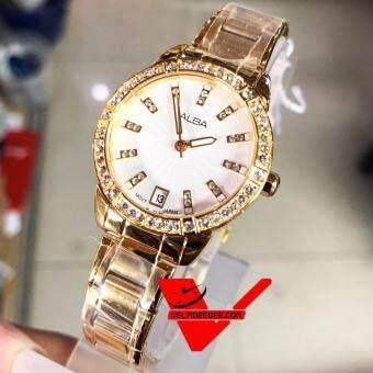 ALBA modern ladies นาฬิกาข้อมือหญิง สายสแตนเลสสีทอง รุ่น AG8H02X1
