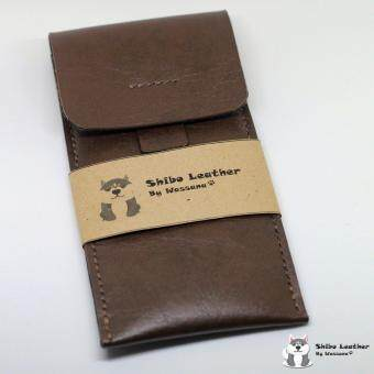 Shibo Leather ซองหนังใส่นาฬิกา สีน้ำตาลเข้ม (Handmade) SL001-DarkBrown