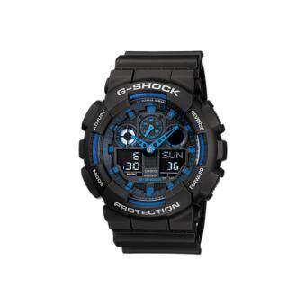 Casio G-Shock นาฬิกาข้อมือผู้ชาย สีดำ สายเรซิ่น รุ่น GA-100-1A2 ประกันศูนย์ CMG