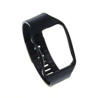 สายรัดข้อมือสายรัดข้อมือแทนนาฬิกาสำหรับ Samsung Galaxy Gear S R750 สีดำ