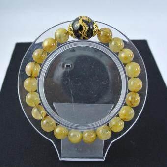 Pearl Jewelry กำไลหินไหมทอง อเกรด มังกร แก้ชง สำหรับปีชง 60