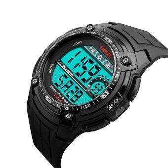 2559 คุณภาพดีที่สุด SKMEI 1203คนกีฬาแฟชั่นนาฬิกากันน้ำ (สีดำ)
