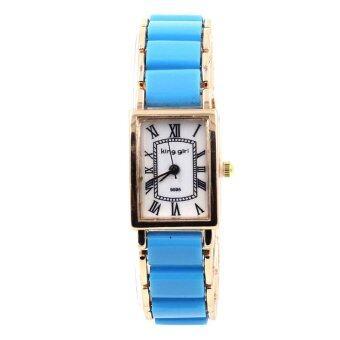 King Girl นาฬิกาข้อมือผู้หญิง - WP8150 (Blue/ Rose Gold)