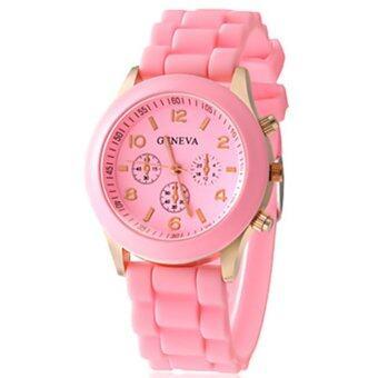Geneva Colorful นาฬิกาข้อมือผู้หญิง สีชมพู สายซิลิโคน รุ่น GNV-598