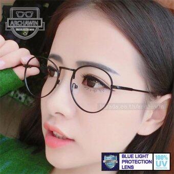 แว่นกรองแสง แว่นตากรองแสง กรอบแว่นตา แฟชั่น เกาหลี รุ่น YOSHIGANE - Black (กรองแสงคอม กรองแสงมือถือ ถนอมสายตา)