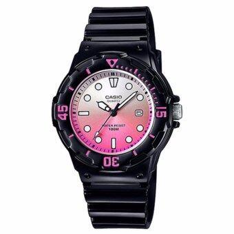 Casio Standard นาฬิกาข้อมือผู้หญิง สายเรซิ่น รุ่น LRW-200H-4EVDR (Ash Pink)