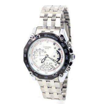 Sevenlight นาฬิกาข้อมือผู้ชาย รุ่น GP9174 (Silver/White)