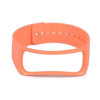 แทนสำหรับ Samsung Galaxy Gear Fit สายรัดข้อมือสายรัดข้อมือสายนาฬิกาอัจฉริยะส้ม