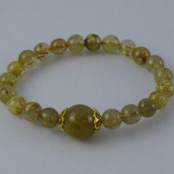 Pearl Jewelry กำไลหินไหมทอง A27