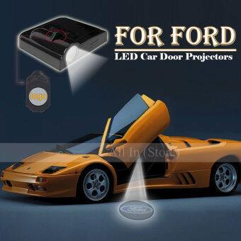 Harga 2Pcs Car Door Projector Welcome Lights for (Ford) - No Drilling Required