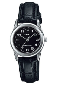 Casio นาฬิกาข้อมือ สายหนัง รุ่น LTP-V001L-1BUDF-Black