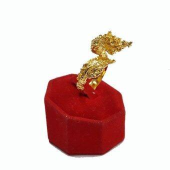 Little Saint Silver.แหวน ทองเหลืองหุ้มทอง รูปพญานาค ขนาดฟรีไซส์