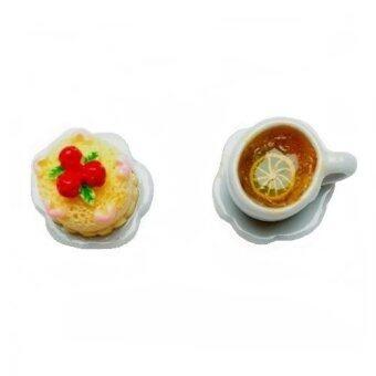 PENNY & THE RICCI ต่างหูแฮนเมดขนมเค้กและชามะนาว
