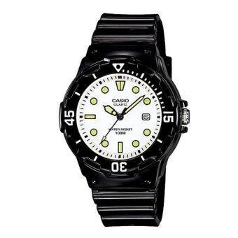 CASIO standard sport Lady นาฬิการข้อมือผู้หญิง Black/White สายเรซิ่น รุ่น LRW-200H-7E1VDF