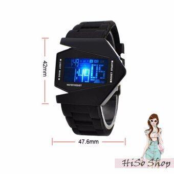 นาฬิกาข้อมือแฟชั่น นาฬิกากันน้ำ waterproof นาฬิกาเด็กแฟชั่น ดีไซน์จรวด รุ่น KS-132 -สีดำ .