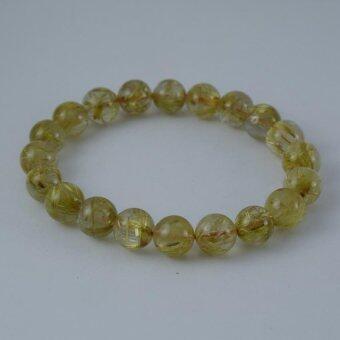 Pearl Jewelry กำไลหินไหมทอง S39