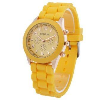 Geneva Colorful นาฬิกาข้อมือผู้หญิง สีเหลือง สายซิลิโคน รุ่น GNV-592