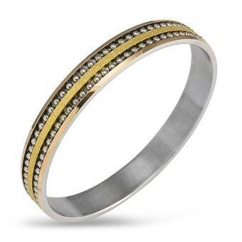 555jewelry กำไลสำหรับสุภาพสตรี รุ่น FSBG14-2 ( Gold )