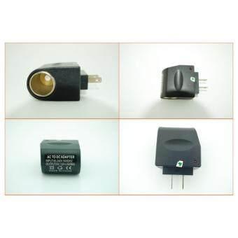 DT ปลั๊กแปลงไฟ AC TO DC ADAPTER แปลงไฟบ้านเป็นไฟรถยนต์ (สีดำ)