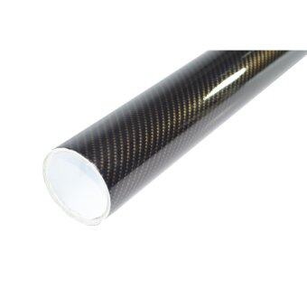 Alicar สติ๊กเกอร์เคฟล่า 2D - สีดำทอง (20x152cm)