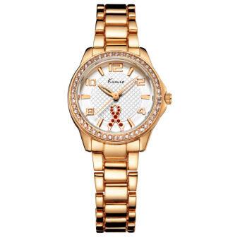 Kimio นาฬิกาข้อมือผู้หญิง สีพิงค์โกล์ด สายสแตนเลส รุ่น KW6143