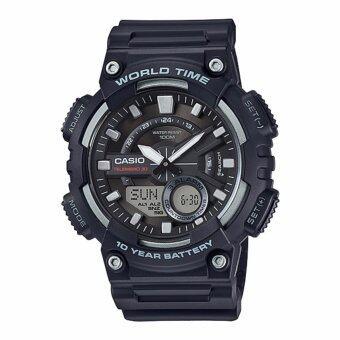 Casio Standard นาฬิกาข้อมือ 10 year battery รุ่น AEQ-110W-1A