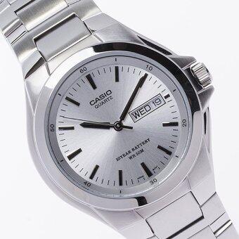 Casio Standard นาฬิกาข้อมือผู้ชาย สีเงิน สายสแตนเลส รุ่น MTP-1228D-7AVDF