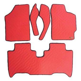 Matpro พรมปูพื้นเข้ารูป 100% ลายกระดุม ชุด Standard Set 5 ชิ้น - TOYOTA VIOS 2007-2012 - สีแดง