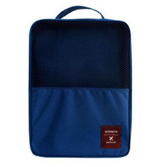 Daisiกระเป๋าใส่รองเท้ากันน้ำได้ Waterproof Shoes Bag กระเป๋าแฟชั่น กระเป๋า ที่จัดระเบียบกระเป๋า กล่องอเนกประสงค์ Daisi0067-blueน้ำเงิน