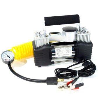 ปั๊มลมสำหรับรถยนต์ใช้ไฟ 220v สองลูกสูบให้ลมแรงพร้อมสายลมยาว
