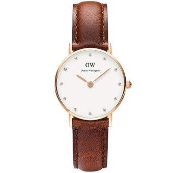 Daniel Wellington 0900DW Classy St. Mawes 26mm นาฬิกาข้อมือ แฟชั่น ผู้หญิง สายหนัง สีน้ำตาล Women Watch - Brown