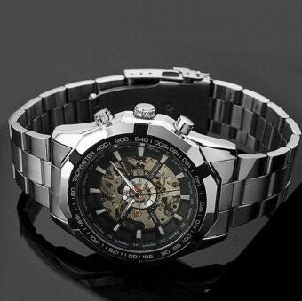 โครงปืนนาฬิกาสำหรับคนเงินนาฬิกาข้อมือโลหะสแตนเลส