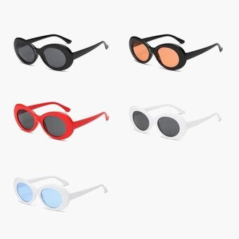 Harga New Retro Small Box Sunglasses Men and Women Trend Sunglasses -White Box Black Gray - intl