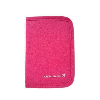 1st Shop กระเป๋าใส่หนังสือเดินทาง พาสปอต พร้อมซิปรูดปิดรอบด้าน Passport wallet - สีชมพู