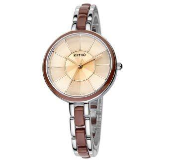 Kimio นาฬิกาข้อมือผู้หญิง สาย Alloy รุ่น K495 - สีน้ำตาล/เงิน