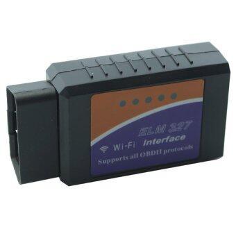 9FINAL OBD II อุปกรณ์ตรวจเช็คสภาพรถยนต์ส่งข้อมูลไร้สาย รุ่น ELM327- wifi A Interface OBD2 OBD-II Car Diagnostic Auto Scanner