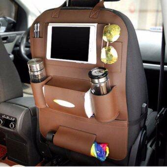 Smartmall ที่ใส่ของในรถเอนกประสงค์ กระเป๋าใส่สัมภาระอเนกประสงค์ด้านหลังเบาะ สีน้ำตาล