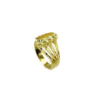 Tfine แหวน4ก้านตัดลายหัวใจชุบทองไมครอน