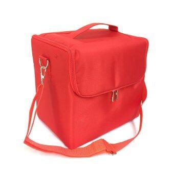 Dona Lashes กระเป๋าเครื่องสำอาง - สีแดง
