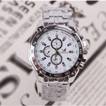 ลักสเตนเลสธุรกิจนาฬิกากันน้ำรัดร่างผลึกขาว