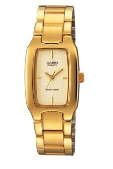 Casio Standard นาฬิกาข้อมือผู้หญิง สายสแตนเลส รุ่น LTP-1165N-9CRDF - เรือนทอง/หน้าทอง