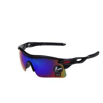 แว่นตากันแดดสำหรับปั่นจักรยาน สีดำ