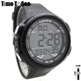 นาฬิกา Submariner (XL) นาฬิกาข้อมือผู้ชาย-ผู้หญิงและเด็ก สายยาง ระบบ Digital/LED